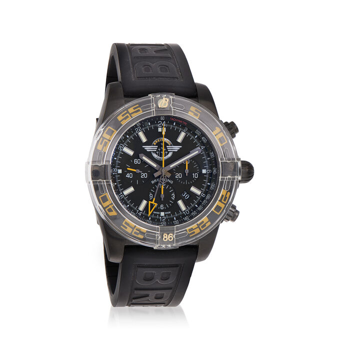 Breitling Chronomat Jet Team Men's 47mm Stainless Steel Watch with Rubber Strap, , default