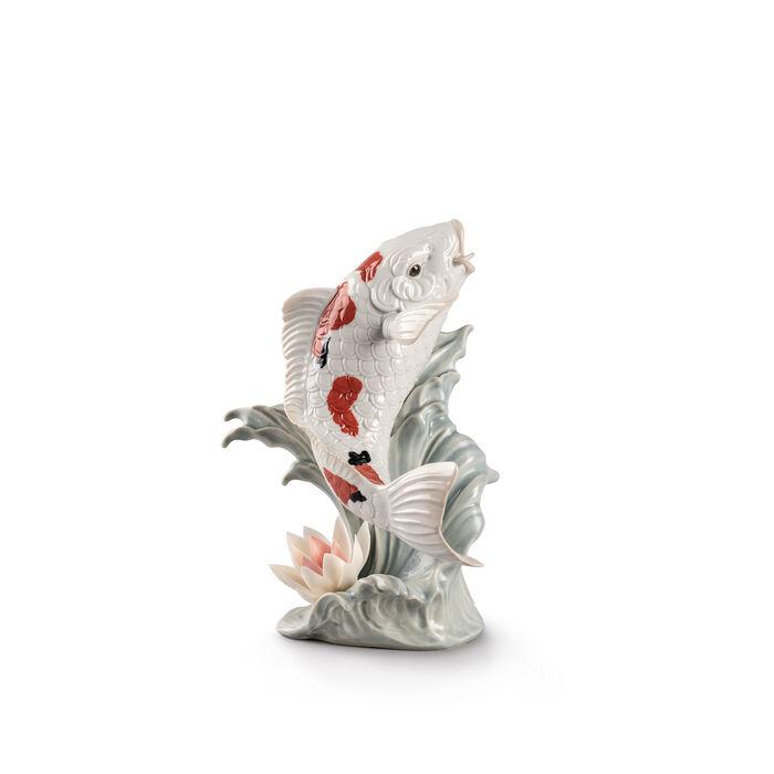 """Lladro """"Koi Fish"""" Porcelain Figurine, , default"""