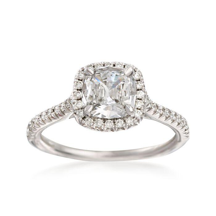 Henri Daussi 1.30 ct. t.w. Certified Diamond Engagement Ring in 18kt White Gold. Size 6.5, , default
