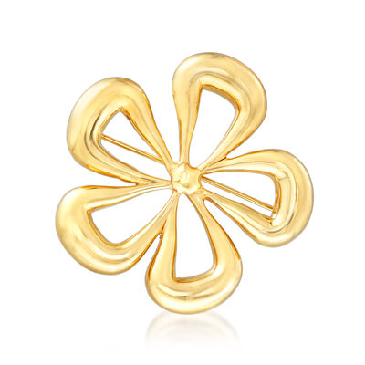 Italian 14kt Yellow Gold Cut-Out Flower Pin, , default