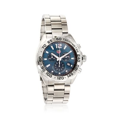 TAG Heuer Formula 1 Men's 43mm Chronograph Stainless Steel Watch - Blue Dial, , default