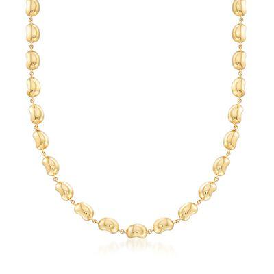 "C. 2000 Vintage Tiffany Jewelry ""Elsa Peretti"" 18kt Yellow Gold Bead Necklace, , default"