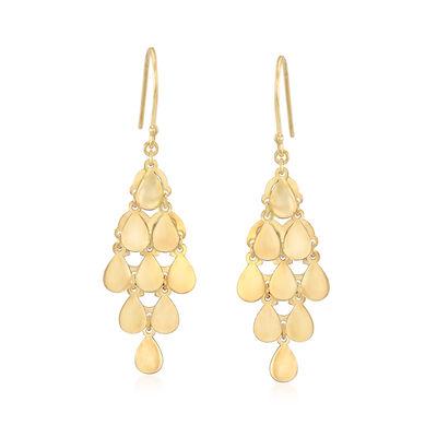 14kt Yellow Gold Chandelier Drop Earrings, , default