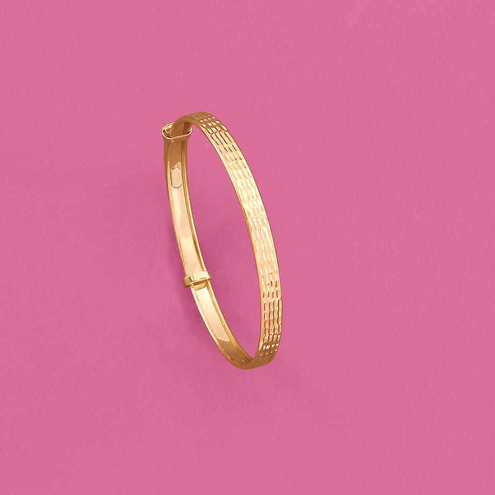000a8d66adbfd Child's 14kt Yellow Gold Adjustable Bangle Bracelet