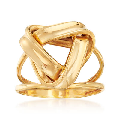 22kt Yellow Gold Knot Ring, , default