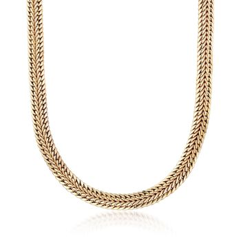 """14kt Yellow Gold Two-Row Curb-Link Necklace. 18"""", , default"""