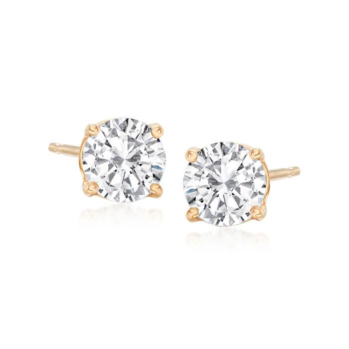 1.00 ct. t.w. Diamond Stud Earrings in 14kt Yellow Gold
