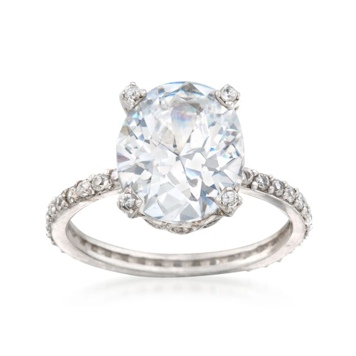 5.95 ct. t.w. CZ Ring in Sterling Silver, , default