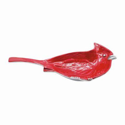 Mariposa Red Enamel Cardinal Nut Dish, , default
