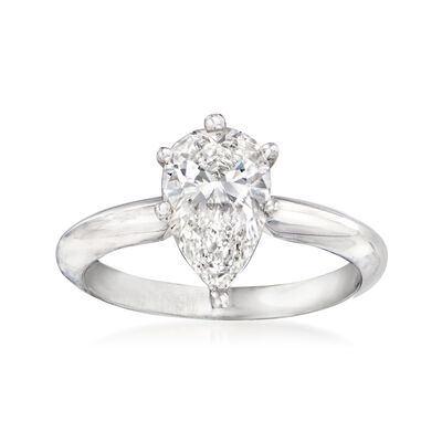 1.50 Carat Certified Diamond Solitaire Engagement Ring in 14kt White Gold