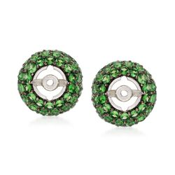 2.00 ct. t.w. Tsavorite Earring Jackets in Sterling Silver, , default