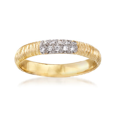 .10 ct. t.w. Pave Diamond Ring 14kt Yellow Gold