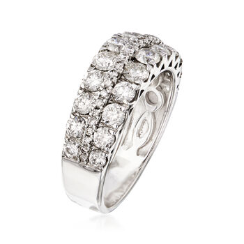 2.00 ct. t.w. Diamond Three-Row Ring in 14kt White Gold
