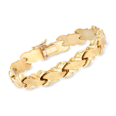 C. 1980 Vintage 14kt Yellow Gold Bracelet, , default