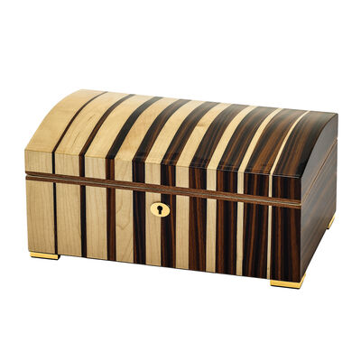 Maple Wood with Ebony Veneer Locking Jewelry Box, , default