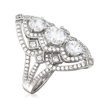 2.73 ct. t.w. CZ Marquise-Shaped Ring in Sterling Silver
