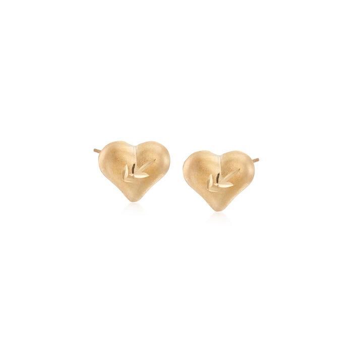 Child's Heart 14kt Yellow Gold Heart Stud Earrings