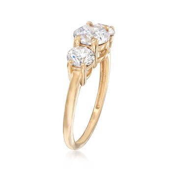 2.00 ct. t.w. CZ Ring in 14kt Yellow Gold, , default