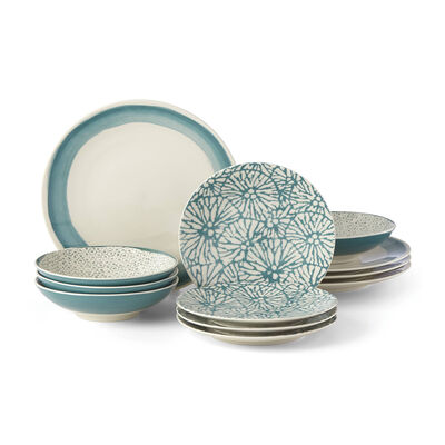 "Lenox ""Market Place Teal"" 12-pc. Dinnerware Set, , default"