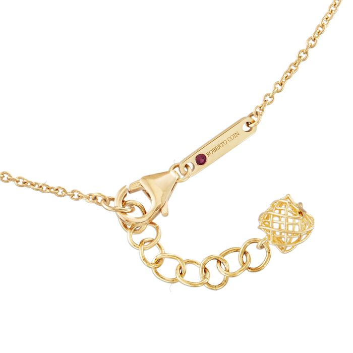 Roberto Coin .13 ct. t.w. Diamond Pendant Necklace in 18kt Two-Tone Gold