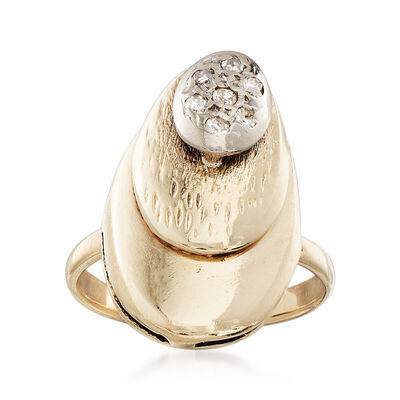 C. 1980 Vintage .10 ct. t.w. Diamond Ring in 14kt Yellow Gold, , default