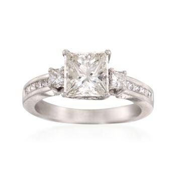 C. 2000 Vintage 2.57 ct. t.w.  Diamond Ring in Platinum. Size 5.75, , default