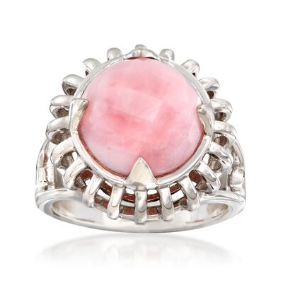 Pink Opal Ring in Sterling Silver, , default