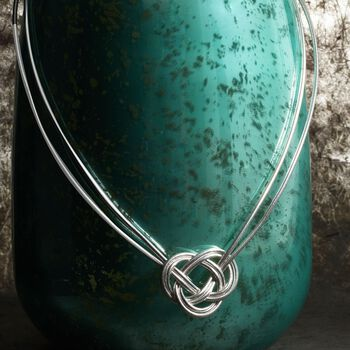 "Celtic Flex Knot Necklace With Sterling Silver. 18"", , default"
