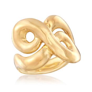 Italian Andiamo 14kt Yellow Gold Swirl Ring, , default