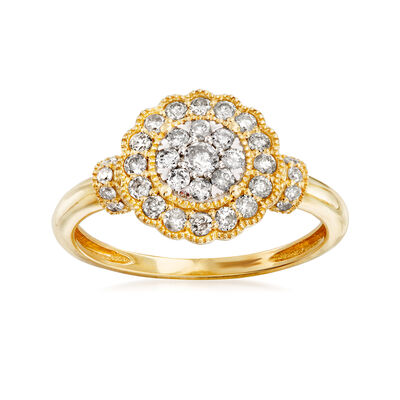 .50 ct. t.w. Diamond Cluster Ring in 14kt Yellow Gold