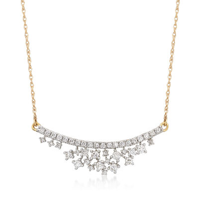 .75 ct. t.w. Diamond Honeycomb Necklace in 14kt Yellow Gold, , default