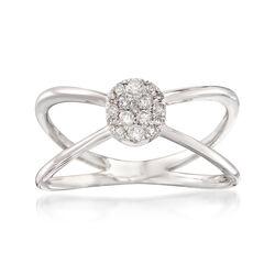 .20 ct. t.w. Diamond Crisscross Ring in 14kt White Gold, , default