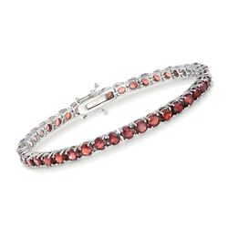 "7.50 ct. t.w. Garnet Tennis Bracelet in Sterling Silver. 7"", , default"