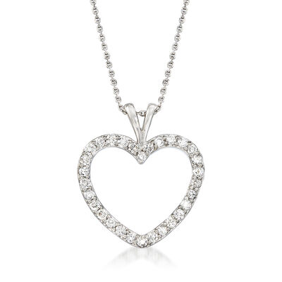 1.00 ct. t.w. Diamond Heart Pendant Necklace in Platinum