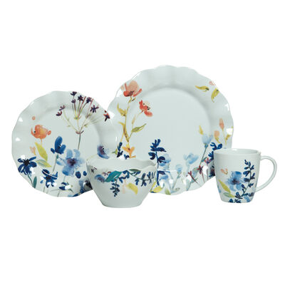 """Fitz and Floyd """"Floral Splash"""" 16-pc. Service for 4 Dinnerware Set"""