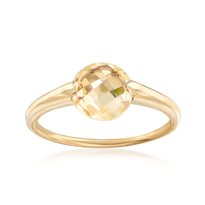 Italian 1.60 Carat Citrine Ring in 14kt Yellow Gold, , default