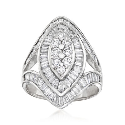 C. 1980 Vintage 2.47 ct. t.w. Diamond Cluster Ring in 18kt White Gold, , default