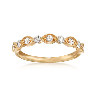Henri Daussi .30 ct. t.w. Diamond Wedding Ring in 18kt Yellow Gold, , default