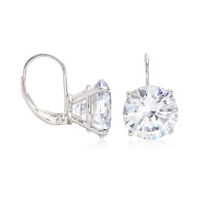 13.00 ct. t.w. Round CZ Drop Earrings in Sterling Silver, , default