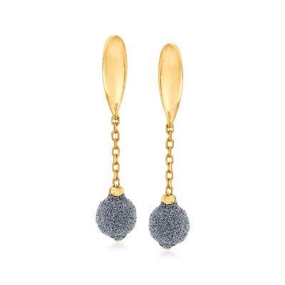 Italian Diamond Stardust Drop Earrings in 18kt Yellow Gold, , default