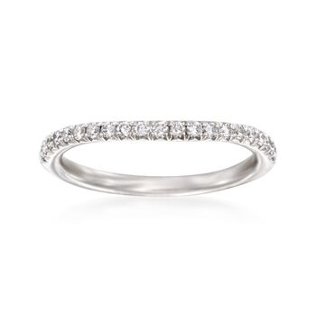 Henri Daussi .30 ct. t.w. Diamond Wedding Ring in Platinum, , default