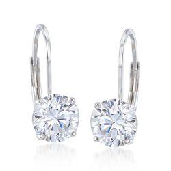 2.00 ct. t.w. CZ Drop Earrings in Sterling Silver, , default