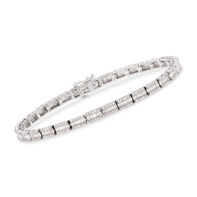 2.65 ct. t.w. Diamond Bracelet in Sterling Silver, , default