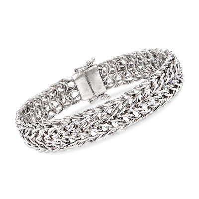 Sedusa-Link Bracelet in Sterling Silver with Magnetic Clasp, , default