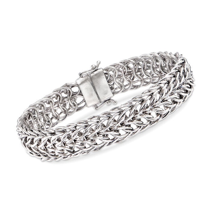 Sedusa-Link Bracelet in Sterling Silver with Magnetic Clasp