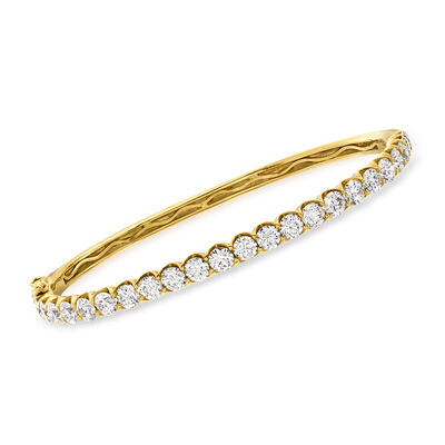 5.00 ct. t.w. Diamond Bangle Bracelet in 18kt Yellow Gold