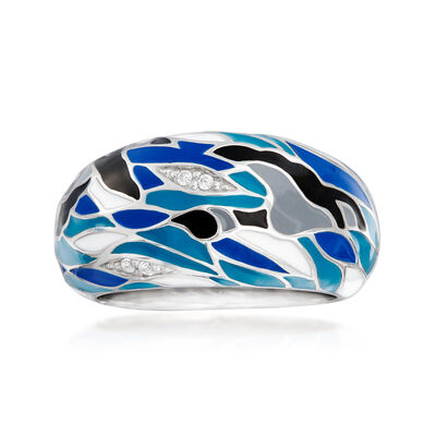 Belle Etoile Migration Enamel Ring in Sterling Silver