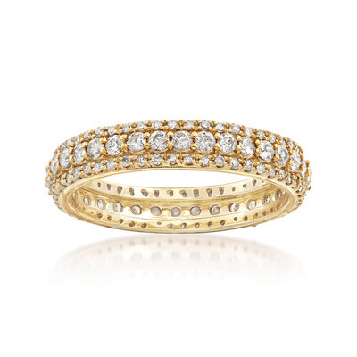 1.00 ct. t.w. Diamond Multi-Row Eternity Band in 14kt Yellow Gold, , default