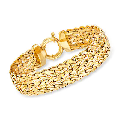 14kt Yellow Gold Three-Row Bracelet, , default