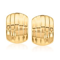 14kt Yellow Gold Curved Five-Row Clip-On Earrings, , default